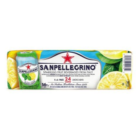 SAN PELLEGRINO Sparkling Fruit Lemon and Mint Beverage (11.15 oz., 24 ct.)