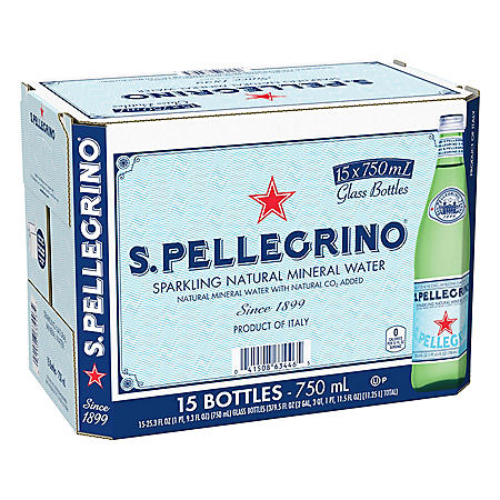 S. Pellegrino Sparkling Natural Mineral Water (25.3oz / 15pk)