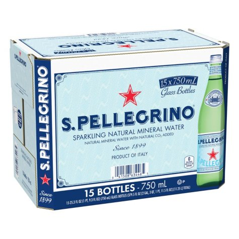 S.Pellegrino Sparkling Natural Mineral Water (750 ml bottles, 15 pk.)
