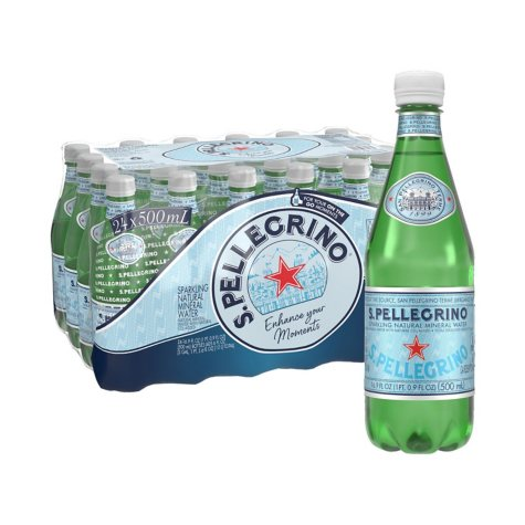 S.Pellegrino Sparkling Natural Mineral Water (0.5 L, 24 ct.)
