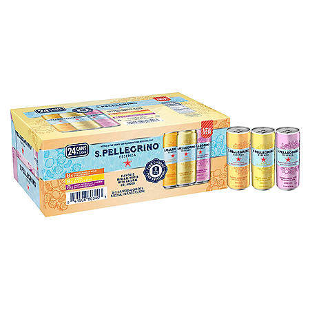 S.Pellegrino Essenza Flavored Mineral Water Variety Pack (11.15oz / 24pk)