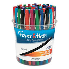 Paper Mate - Flair Felt Tip Marker Pen, Assorted Ink, Medium -  48 Pens/Set