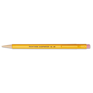 Paper Mate - Sharpwriter Mechanical Pencil, HB, 0.7 mm, Yellow Barrel - 12 Per Box