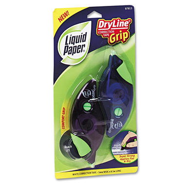 Paper Mate Liquid Paper - DryLine Grip Correction Tape, 1/5