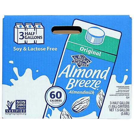 Almond Breeze Almond Milk, Original (64 oz., 3 pk.)