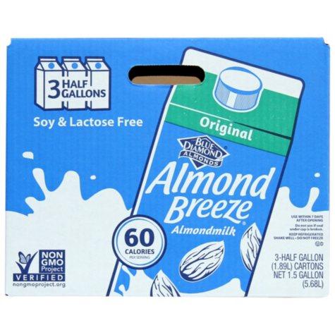 Almond Breeze Almond Milk, Original (64 oz., 3 pk.)