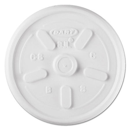 Dart Hot and Cold Foam Cup Plastic Lids, Vented, 8 oz. (1,000 ct.)