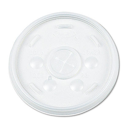 Dart Plastic Lids, for 12 oz Hot/Cold Foam Cups, Sip-Thru Lid (1000 ct.)