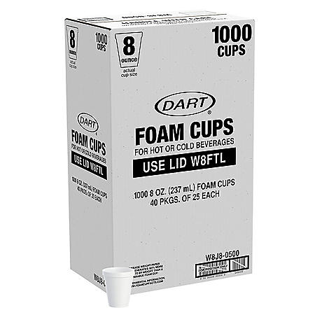 Member's Mark by Dart 8 oz./1000 ct. Foam Cups - Hot and Cold