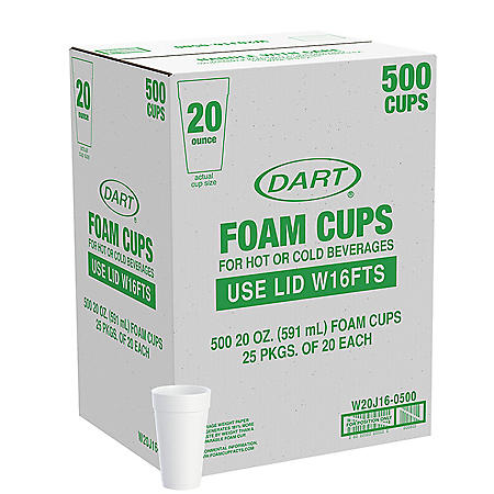 Member's Mark by Dart® Foam Cups - 500/20 oz. - Hot and Cold