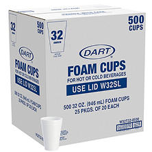 Dart - Foam Cups - 500/32 oz.