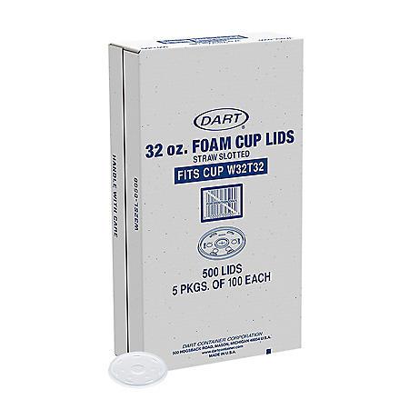 Dart® Foam Cup Lids - 500/32oz