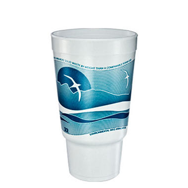32 oz. Horizon Printed Foam Pedestal Cup - 400/case