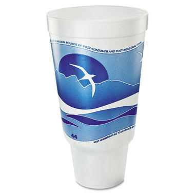 Dart Horizon Printed Foam Pedestal Cups - 44 oz. - 300 ct.