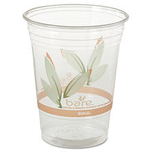 Solo Bare Eco-Forward RPET Cold Cups, 16-18 oz., Clear, 50/Pack -  1000/Carton