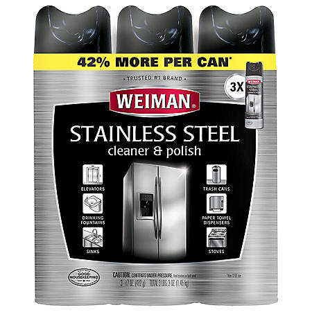Weiman Stainless Steel Cleaner & Polish (17oz.,3pk.)