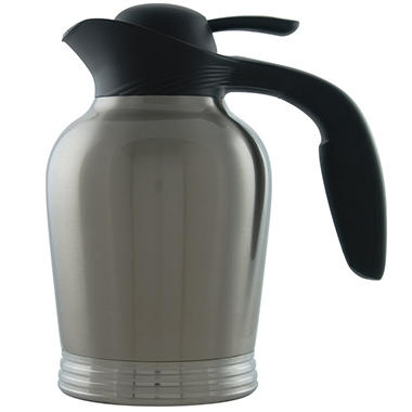 Stanley Commercial ErgoServ Carafe, Brushed Stainless/Black (1L)