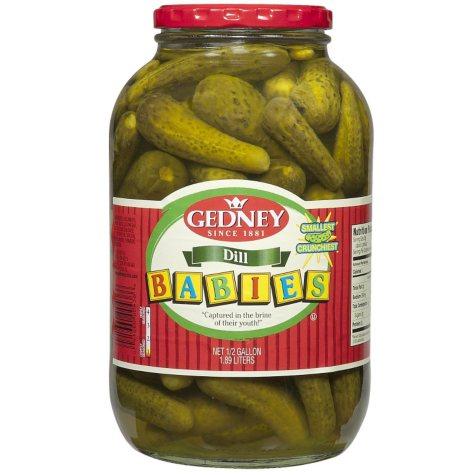 Gedney Baby Dill Pickles - Half Gallon - 64 oz.