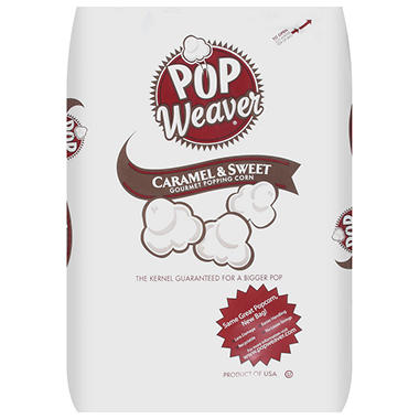 Pop Weaver® Caramel & Sweet Popping Corn - 50lb