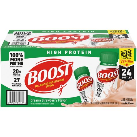 BOOST High Protein Drink, Strawberry (24 pk.)