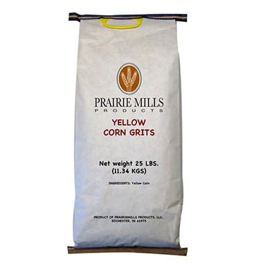 Prairie Mills Yellow Corn Grits - 25 lb. bag