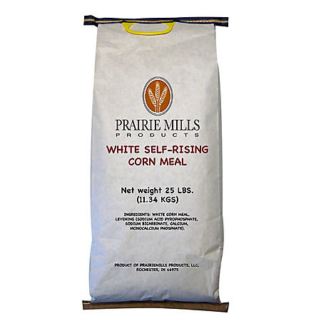 Prairie Mills White Self-Rising Corn Meal (25 lbs.)