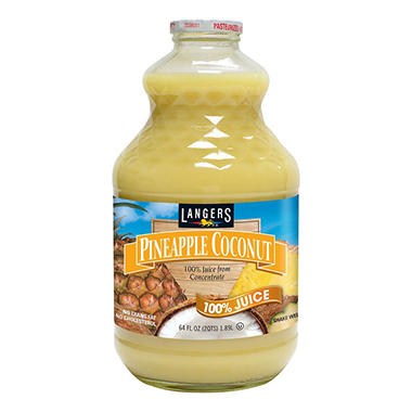 Langers Pineapple Coconut 100% Juice (64 fl. oz.)
