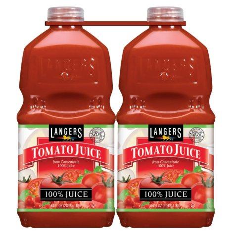Langer's Tomato Juice - 64 oz. bottles - 2 pk.