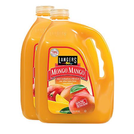 Langers Mongo Mango Juice Cocktail (128 oz. ea., 2 pk.)