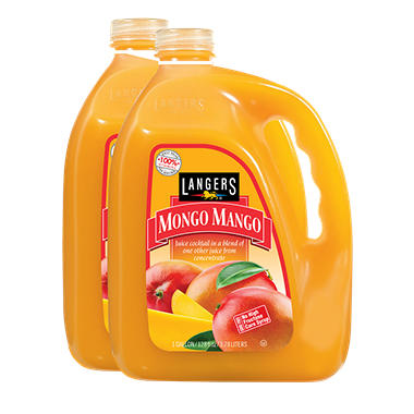 Langers Mongo Mango Juice Cocktail (128 oz. ea., 2 pk.)