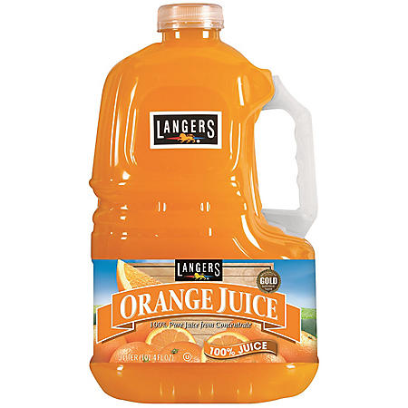 Langers Orange Juice (3 L, 2 ct.)
