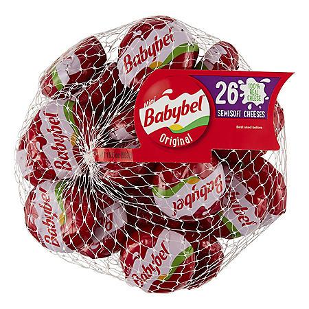 Mini Babybel Semisoft Cheese, Original (19.5 oz., 26 ct.)