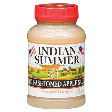 Indian Summer Old Fashioned Regular Applesauce (12 pk., 24 oz.)