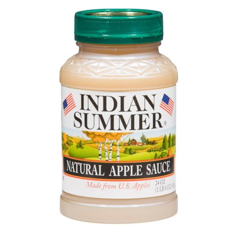 Indian Summer Natural Unsweetened Applesauce (12 pk., 24 oz.)