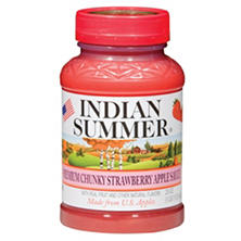Indian Summer Premium Chunky Strawberry Applesauce (12 pk., 23 oz.)
