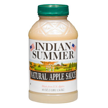 Indian Summer Natural Unsweetened Applesauce (8 pk., 48 oz.)