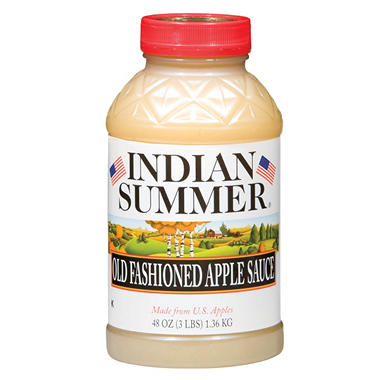 Indian Summer Old Fashioned Regular Applesauce (8 pk., 48 oz.)