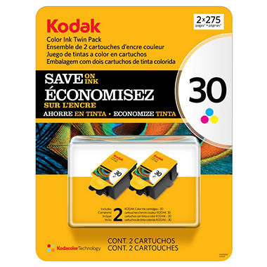 Kodak 30 Series  Ink Cartridge, Color (2 pk., Page Yield 275)
