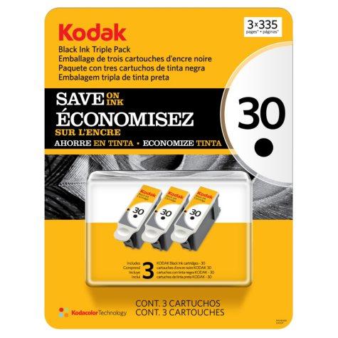 Kodak 30 Series Ink Cartridge, Black (3 pk., Page Yield 335)