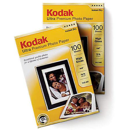 "Kodak Ultra Premium 4""x6"" 200 Sheet Photo Paper - 280gsm High Gloss - 285gsm Studio Gloss"