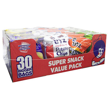 Utz 54.5 oz Super Snack Variety Pack - 30 ct.