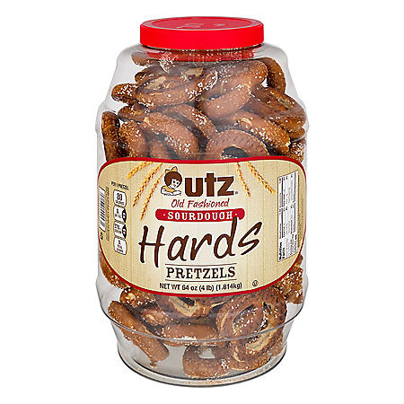 Utz Old Fashioned Sourdough Hard Pretzel Barrel 4 lbs. (2 ct.)