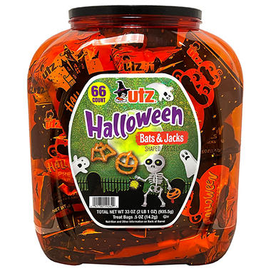 Utz Halloween Shaped Pretzel Treat Barrel (70 ct.)