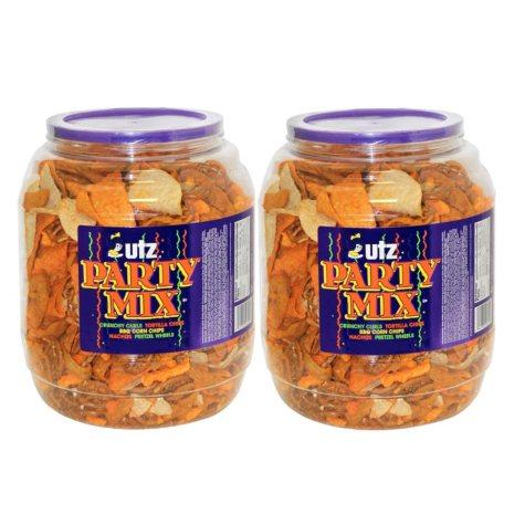 Utz Party Mix Barrels 43 oz. (2 ct.)