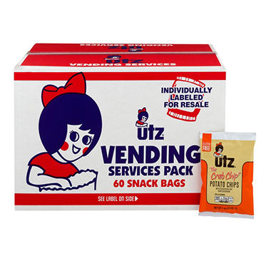 Utz Crab Potato Chips 60 - 1oz. bags