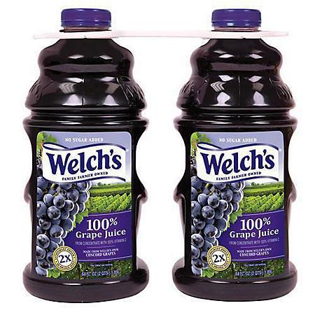 Welch's 100% Grape Juice (64oz / 2pk)