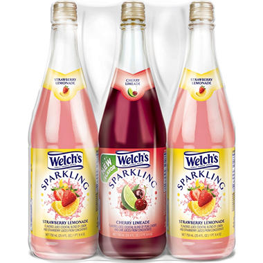 Welch's Summer Sparkling Juice Cocktails - 750 ML - 3 pk.