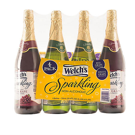 Welch's Sparkling Juice Cocktail Variety Pack (750ml / 4pk)