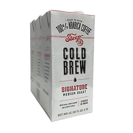 Steep 18 Cold Brew Coffee (32 oz., 3 pk.)
