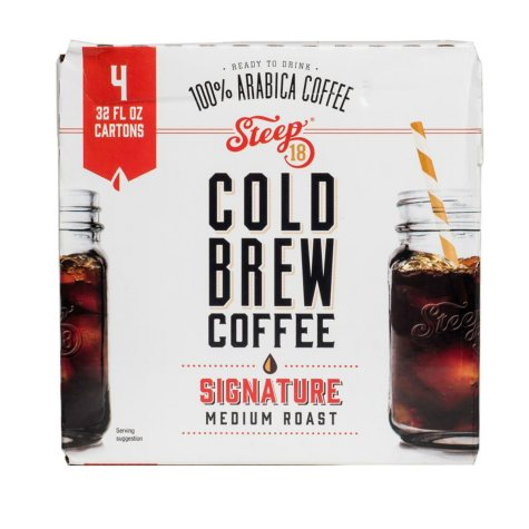 Steep 18 Cold Brew Coffee (32 oz., 4 pk.)